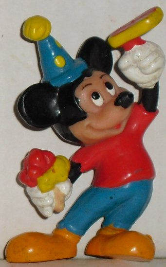 "MICKEY MOUSE PVC Figure Partying 2.5"", Disney Applause"