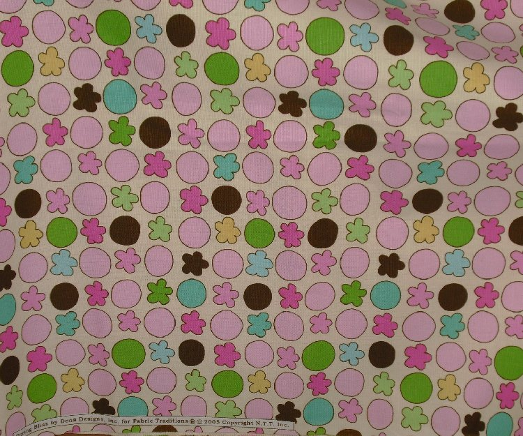 "2005 Spring Bliss Dena Designs FABRIC 15 ft x 45"" 5 yds"