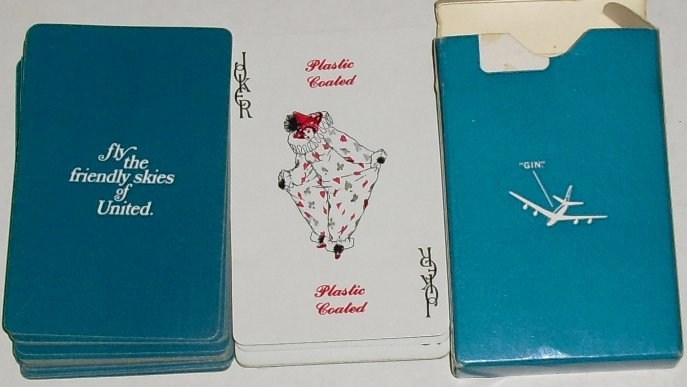 1 Deck Fly Friendly Skies UNITED Airlines playing cards