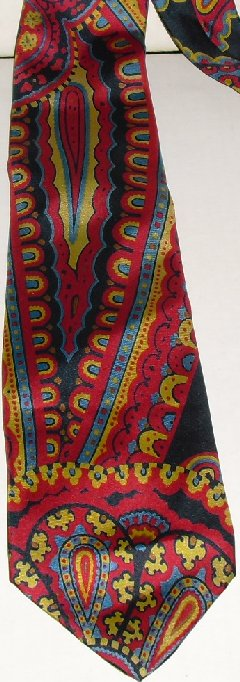 CHRISTIAN DIOR colorful abstract Silk Neck TIE Necktie