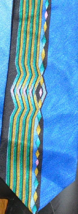 ANGELINO Italy colorful stripe Silk Neck TIE Necktie