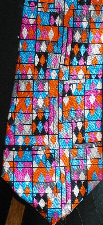 ELECTRIC NECKWEAR multicolor Silk POWER TIE Necktie