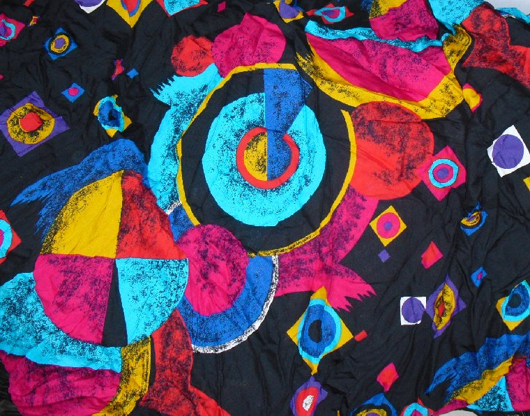"Colorful Abstract print FABRIC 208"" x 60"" 5.75 yds"
