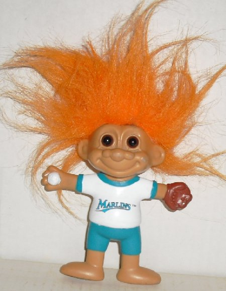 1992 Russ Trolls TROLL bendable Doll -MLB BASEBALL FL MARLINS