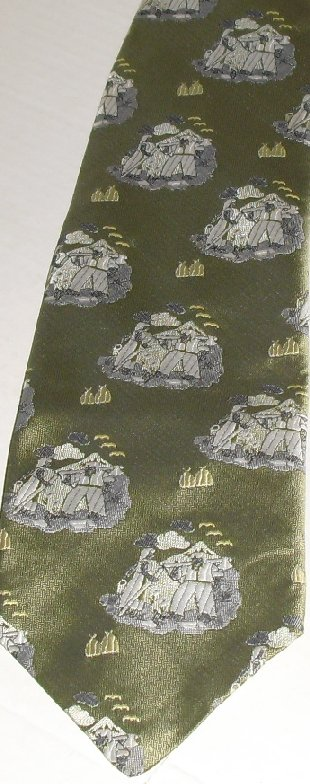 Vintage MR JOHN poly MOD Wide TIE Necktie figures