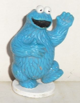 SESAME Street COOKIE MONSTER mini PVC Figure on base 2""