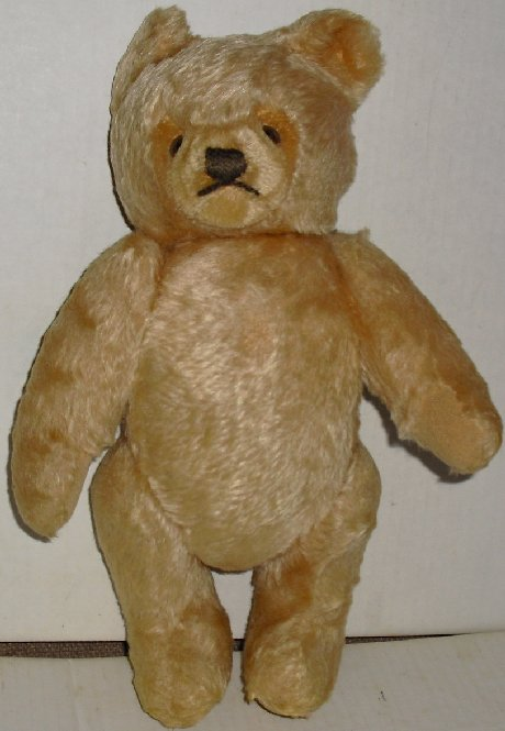 STEIFF (?) Mohair Plush Teddy Bear heart shape face12""