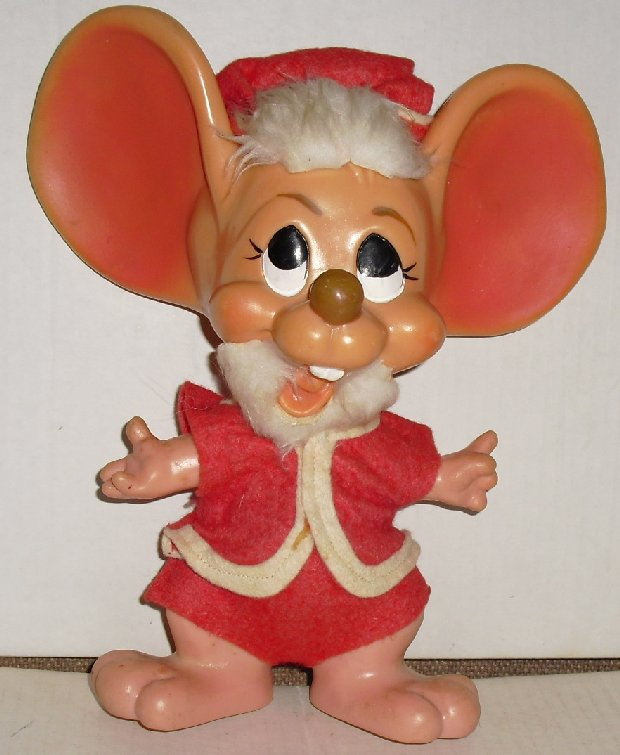 Vtg Santa Claus huge ears Mouse BANK 1970 Roy Des FL