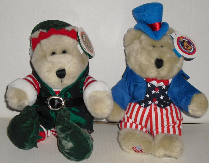 STARBUCKS Plush Bearista Bear lot 17th Elf & 20th USA