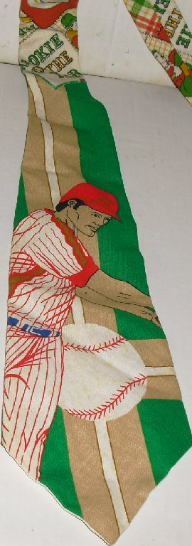 Vintage BASEBALL Rookie of the Year Novelty Necktie TIE