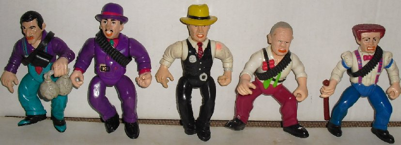 DICK TRACY & Bad Guy Lot Action Figures Disney Playmate