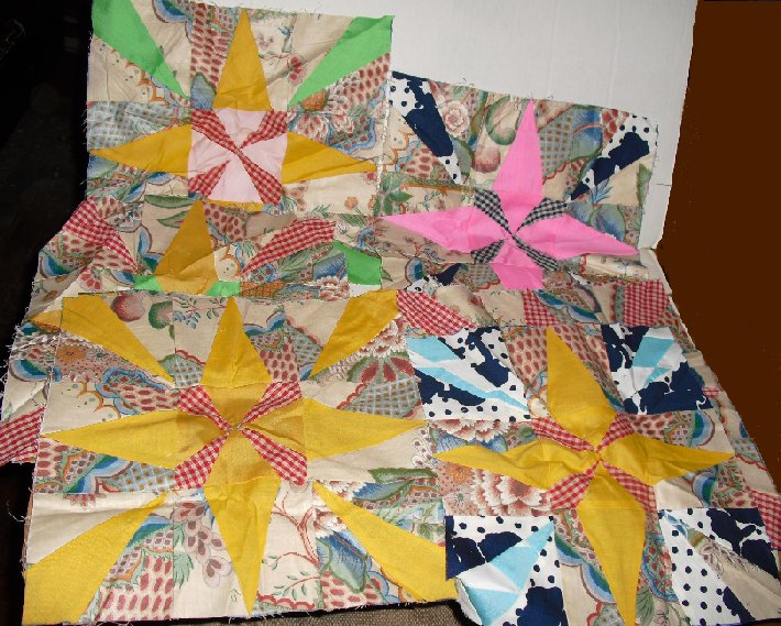 "Craft lot of 8 Quilt Fabric squares 12""x12"""