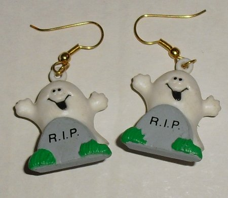 RUSS Halloween Ghost RIP pierced earrings