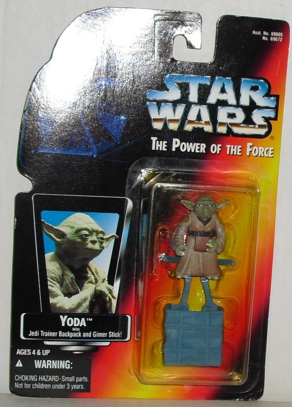 1995 Kenner STAR WARS Figure YODA backpack & Gimer MOC