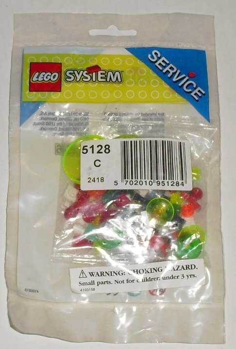 1996 LEGO 5128 SERVICE Transparent Plates & Bricks MIP