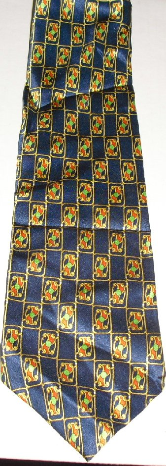 PIERRE CARDIN Paris colorful geometric Necktie TIE
