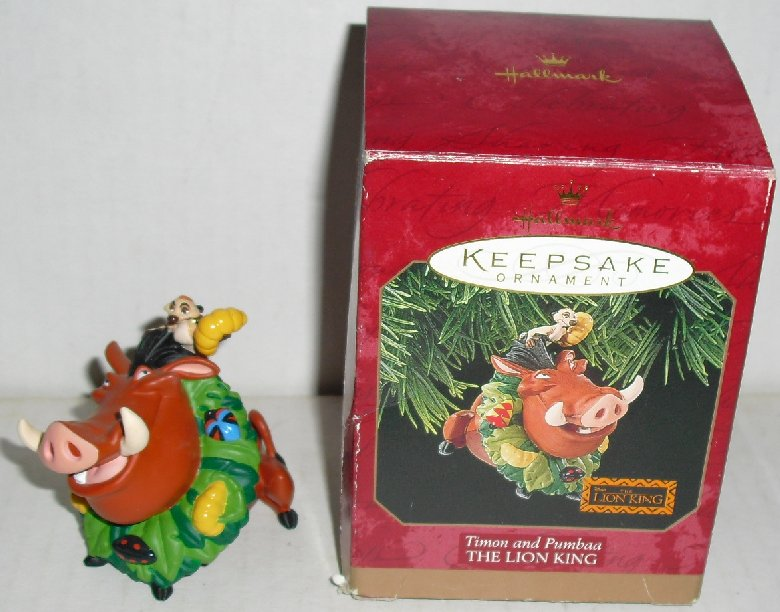 1997 Hallmark Ornament Lion King TIMON AND PUMBAA
