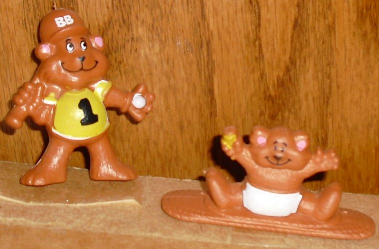 "Lot of 2 CEREAL Bears (?) PVC Figures 1-2"", GMI"