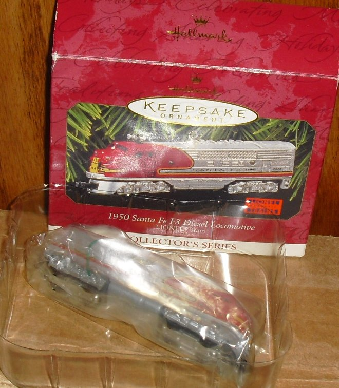 1997 Hallmark Ornament LIONEL 1950 Santa Fe Locomotive