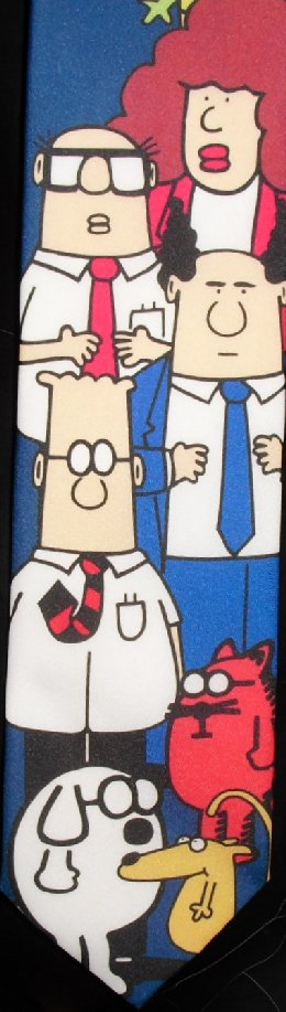 DILBERT & Gang Cartoon colorful poly Necktie TIE