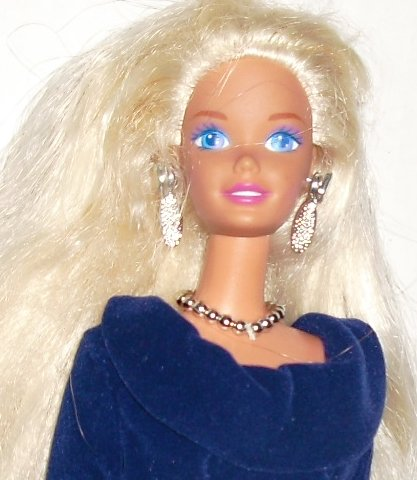 BARBIE Doll Blonde hair dressed fancy evening gown