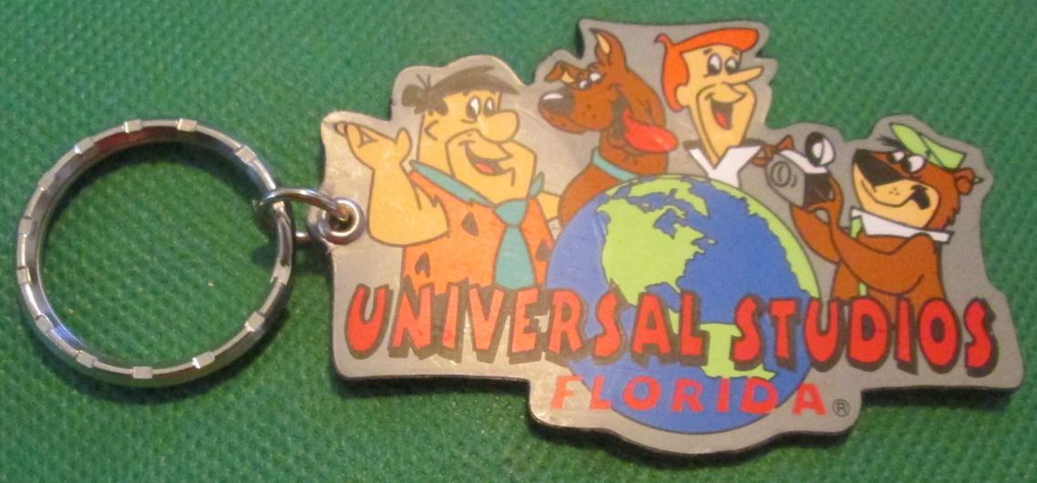 1997 UNIVERSAL STUDIOS FLORIDA vinyl Cartoon keyring key chain