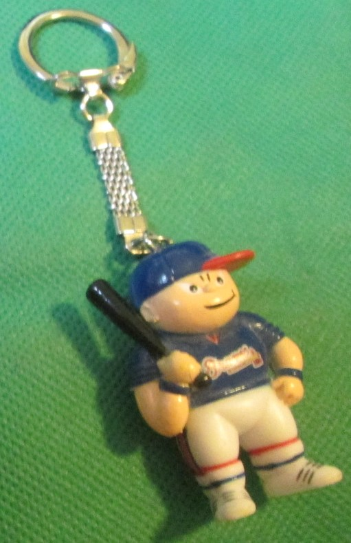 1986 ATLANTA BRAVES Lil SPORTS BRAT Baseball player PVC keyring