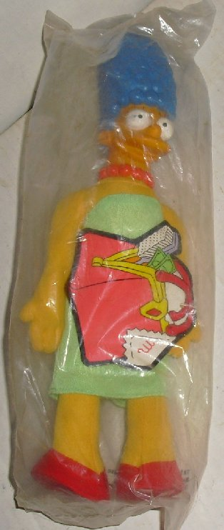 "SIMPSONS Marge Simpson plush doll 12"" Burger King MIP"