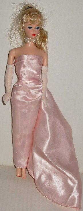 REPRO BARBIE Blonde Ponytail Doll ENCHANTED EVENING Gown