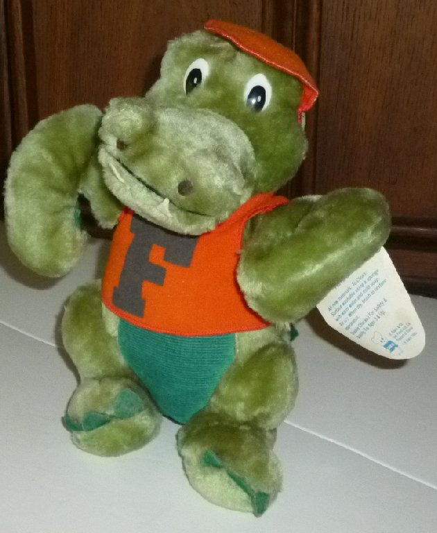 Vintage 1983 R DAKIN Plush FL FIGHTING GATORS Alligator mascot