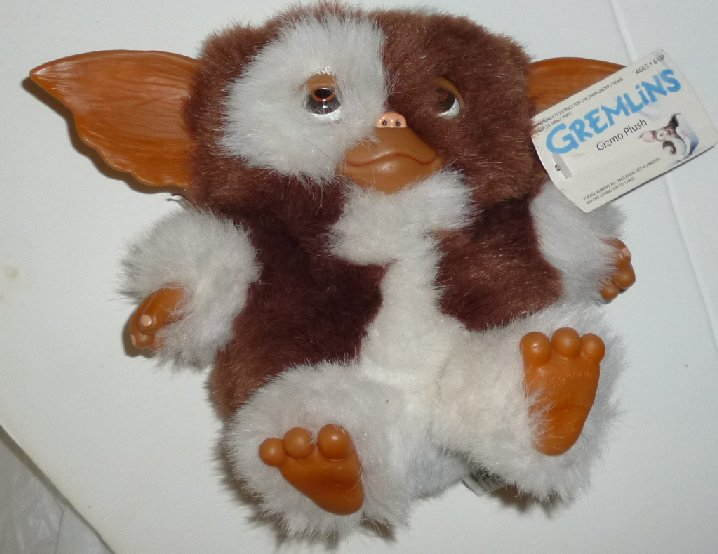 "Gremlins Plush GIZMO stuffed doll w/hang tag 6"" NECA Warner Bros"