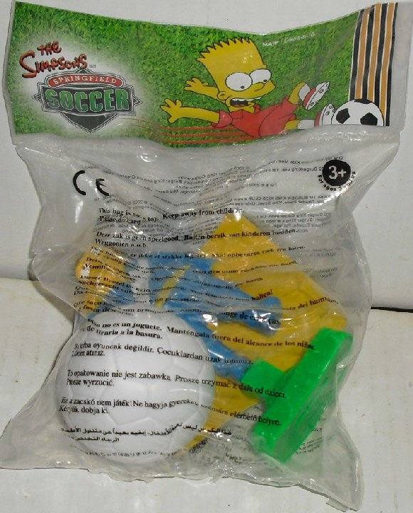 SIMPSONS Barney Gumble SOCCER toy UK Burger King MIP