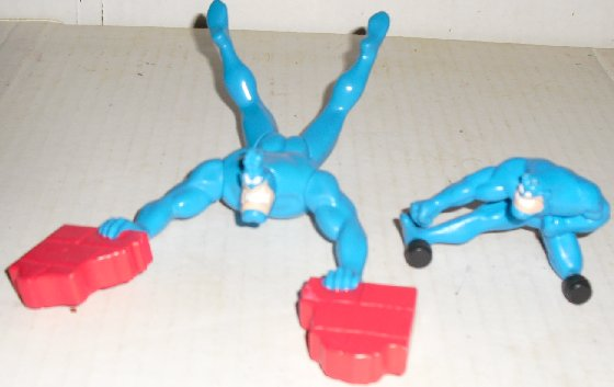 Lot of 2 THE TICK Taco Bell fast food Toys