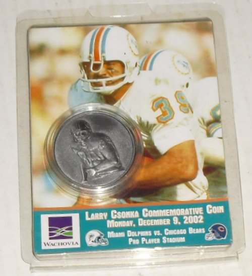 Miami DOLPHINS Larry CSONKA Commemorative COIN Game Promo