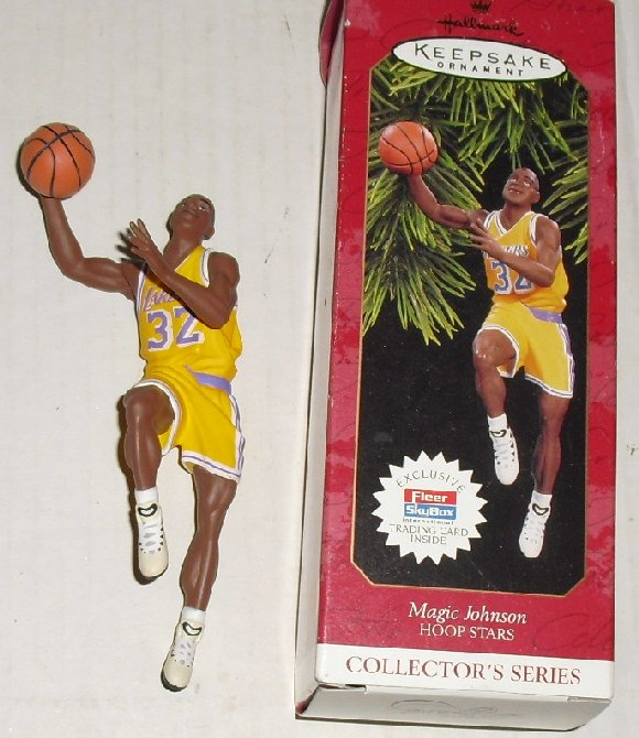 1997 Hallmark Ornament Hoop Stars MAGIC JOHNSON w/ box