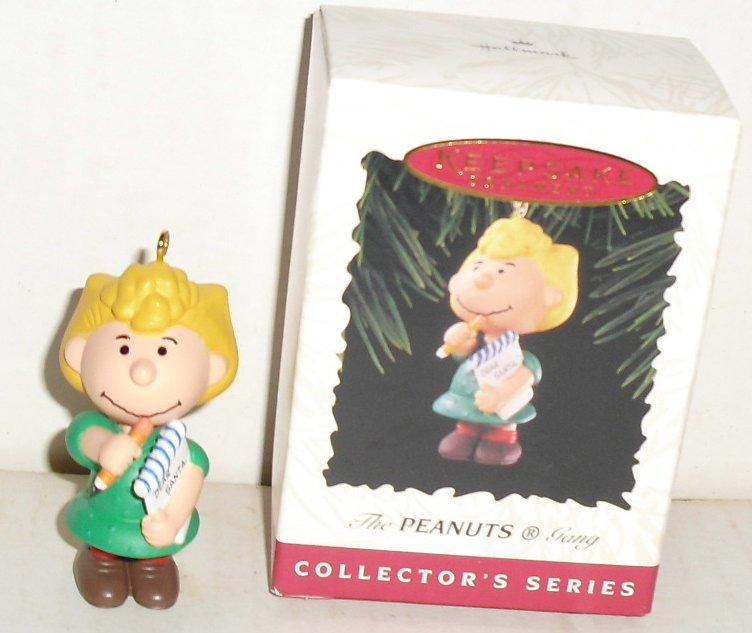 1996 Hallmark Peanuts Gang Ornament SALLY w/box