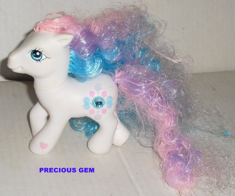 G3 MLP Hasbro My Little Pony PRECIOUS GEM Fancy Hair