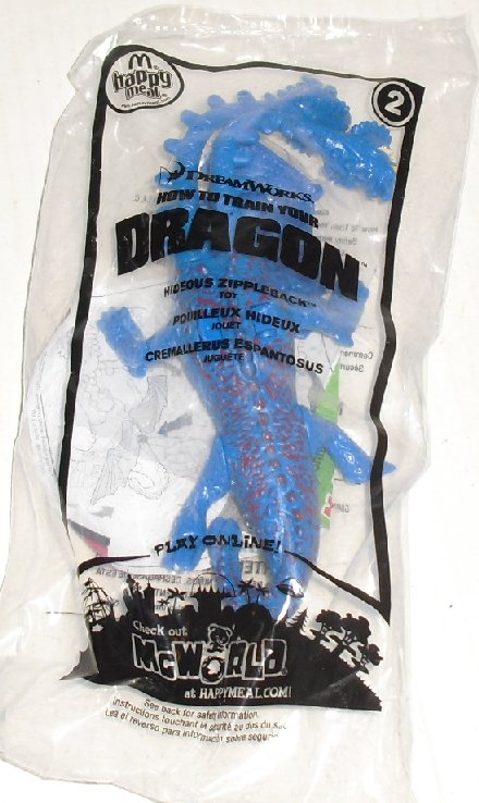 McDonalds McD TRAIN YOUR DRAGON #2 ZIPPERBACK Toy MIP