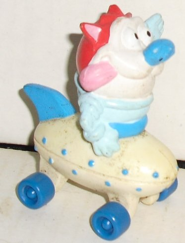 REN & STIMPY Show STIMPY PVC figure in vehicle 2.75""