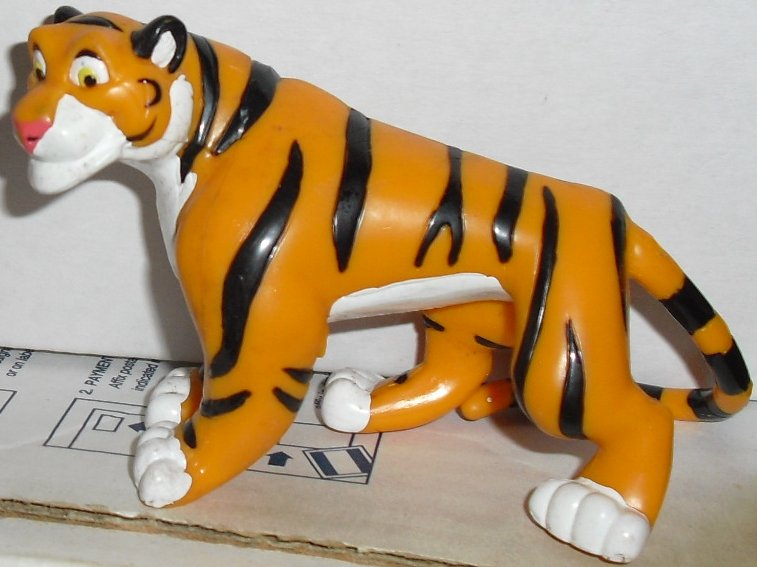 "Aladdin tiger RAJAH PVC Figure 4"" long, Disney"