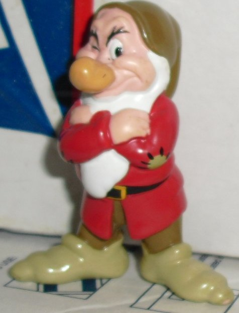 "Snow White PVC Figure Dwarf GRUMPY 2.25"", Disney"