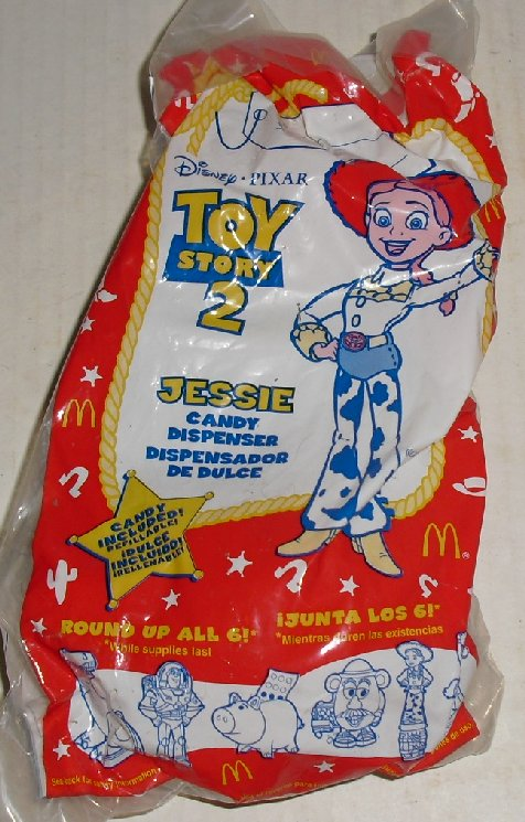 TOY STORY 2 Candy Dispenser JESSIE toy McDonalds MIP