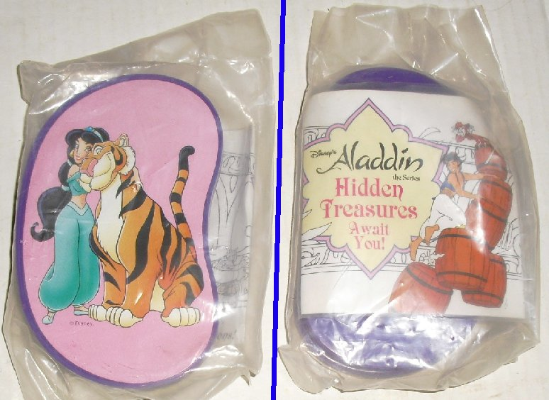 ALADDIN HIDDEN TREASURE toy, Disney Burger King, MIP