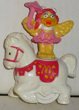 McD MCDONALD Circus BIRDIE on horse toy figure 3""