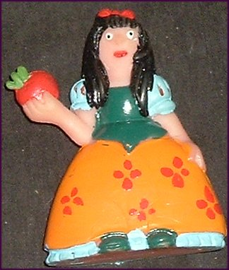 SNOW WHITE PVC Figure w/Apple 2.75 in JUPLAY SPAIN