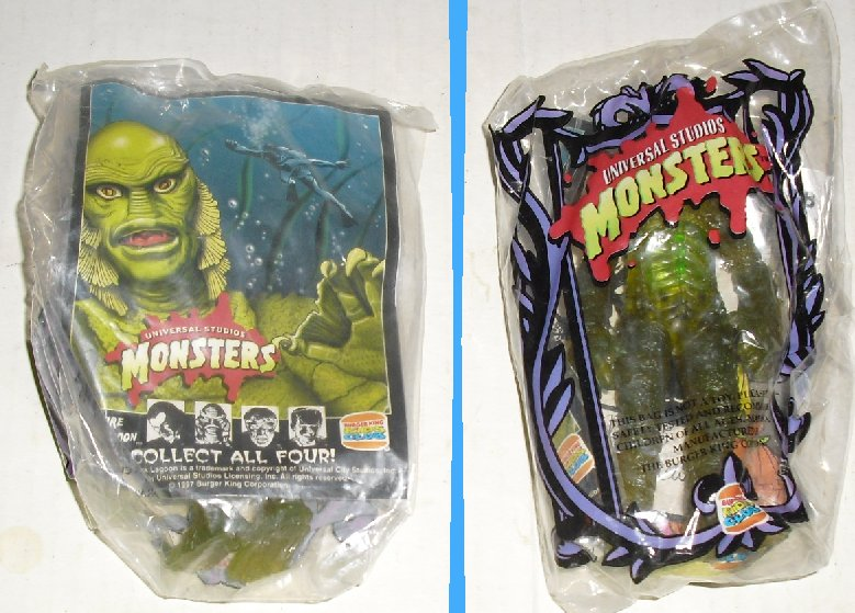 Universal Monsters CREATURE figure Burger King MIP