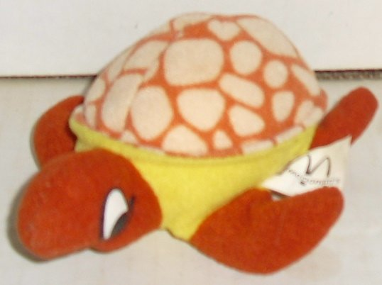 McD McDonalds Cloth Plush TURTLE happy meal toy 4.5""
