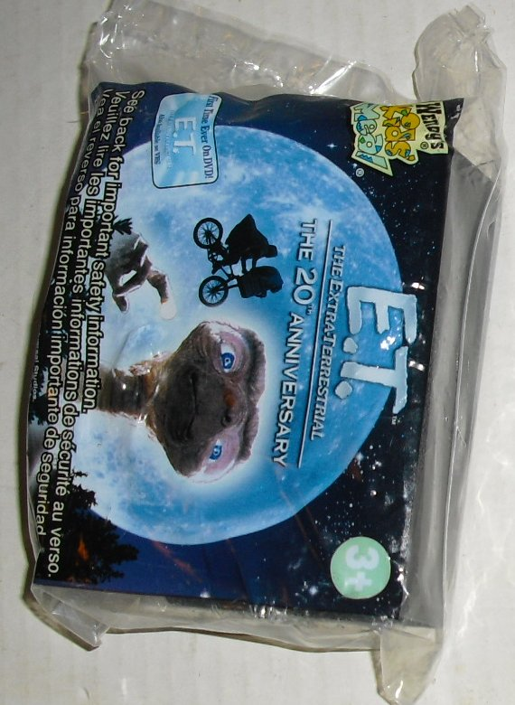 ET E.T Extra Terrestrial 20TH Anniversary toy, Wendy's, MIP