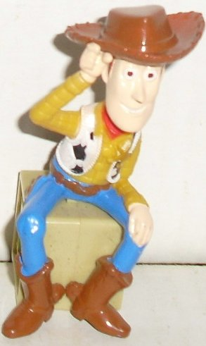 "TOY STORY PVC Figure WOODY sitting on block 3"", Disney"