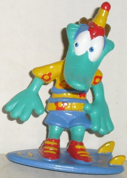 "Green DUCK (?) PVC Figure 3"", 2004 Kid Stuff"